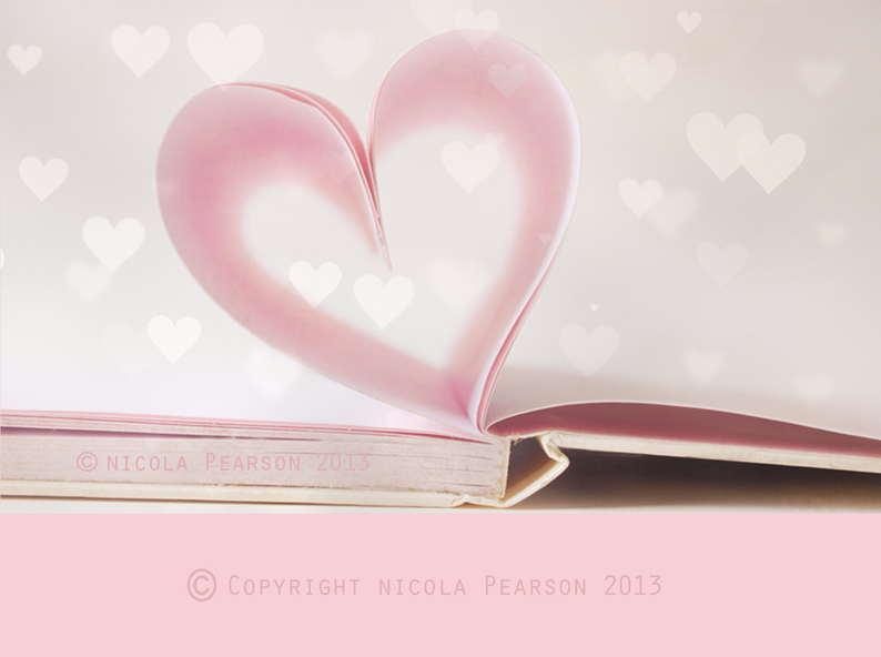 LOVe Heart Books Bokeh - small watermarked