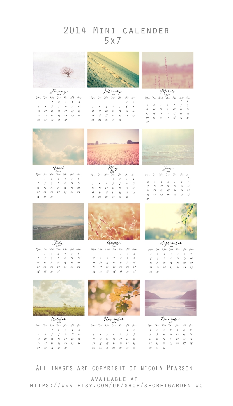 2014 Nature Calender small collage