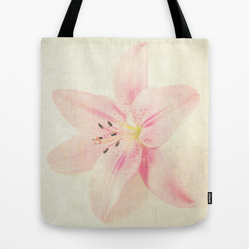 flower on a canvas bag
